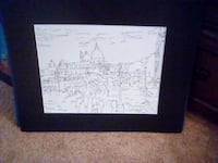 """""""SCENE IN  EUROPE"""".  PEN AND INK DRAWING. HYATTSVILLE"""
