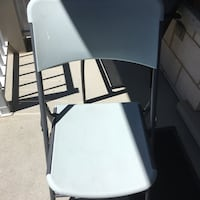 Grey coloured folding chair Delson