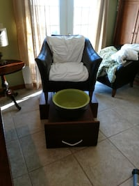 Handcrafted Pedicure Station with side table  CHICAGO