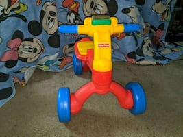 Fisher-Price reverse trike child riding toy baby