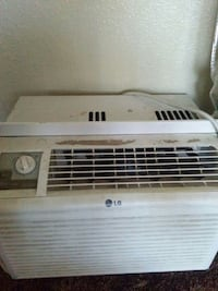white LG window type air conditioner