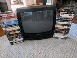TV / VCR Combo with 33 VHS