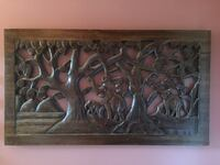 Large Wood hand carved Decor 21x35in  Bakersfield, 93309