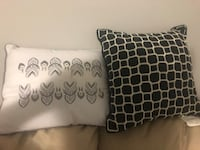 two black and white throw pillows Lincoln, L0R