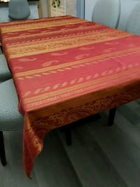 60x84 RED/GOLD table cloth  Vaughan, L6A 1C6