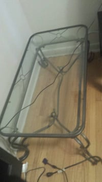 gray metal framed glass top table Mississauga, L5G 1G2