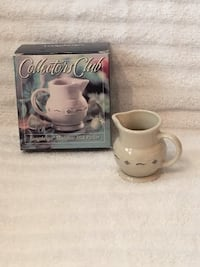 Longaberger Collectors Club Pottery—Miniature Milk Pitcher—New in Box Vienna, 22180