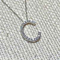 Genuine 10k White Gold Diamond Pendant with 10k Chain Ashburn