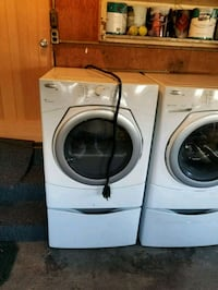 two white front-load clothes washer and dryer set Burien, 98168