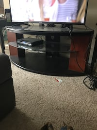 black and brown wooden TV stand Springfield, 22152