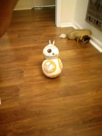 Stuffed Star Wars BB8 droid toy.
