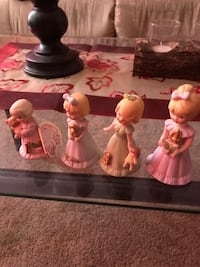 four girls ceramic figurines Gibbons, T0A 1N1