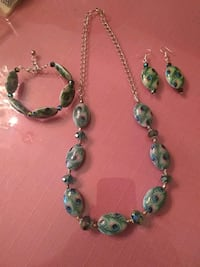 green and silver beaded necklace San Antonio, 78227