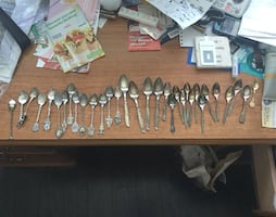 Collector miniature spoons.   All for $15.  Delivery