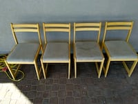 four simple wooden chairs Victoria, V8Y 2R7