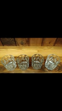 4 Crown Royal Whiskey low ball glasses Eunice, 70535