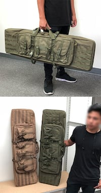 """New $50 each (Green or Khaki) Outdoor Tactical Dual Rifle Gun Bag Case Hunting Backpack 42""""x13""""x4"""" South El Monte"""