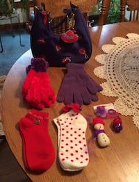 Red Hat ladies (never used items) Purse, 2 key chains, 2 pairs of gloves2 pairs of socks, lapel pins) McDonough, 30252