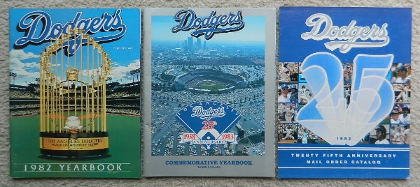 1982 & 1983 Los Angeles Dodgers Yearbooks + 1983 Mail Order Catalog!
