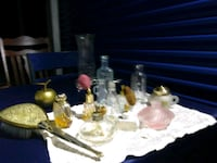Assortment of old perfume bottles Perry, 48872