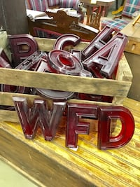 Vintage Red Plastic Letters and Numbers $3 each Waynesboro, 17268