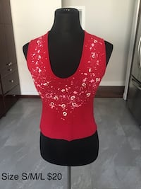 Red T-shirt size XS/S/M.