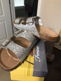Pair of silver sparkle
