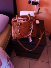 borsa a 2 vie in pelle marrone