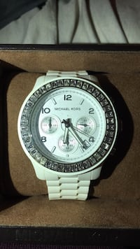 round silver-colored chronograph watch with link bracelet Frederick, 21701