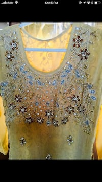 women's brown and blue floral scoop neck shirt Calgary, T3G 1X4