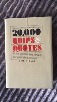 20,000 quips & quotes hard cover Calgary, T2R 0S8