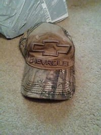 black and grey Chevrolet baseball cap 484 mi