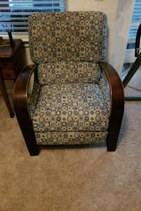 brown and black floral fabric sofa chair Fuquay Varina, 27526