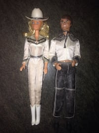 1980 cowboy Barbie and Ken $15 each or both for $25 like new