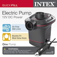 Intex Electric Pump - Plugs in your Car Charger, 12V DC Houston