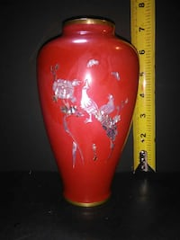 Red Lacquer vase Calgary, T2A 1L3