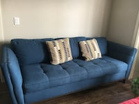 Blue fabric 2-seat sofa Austin, 78717