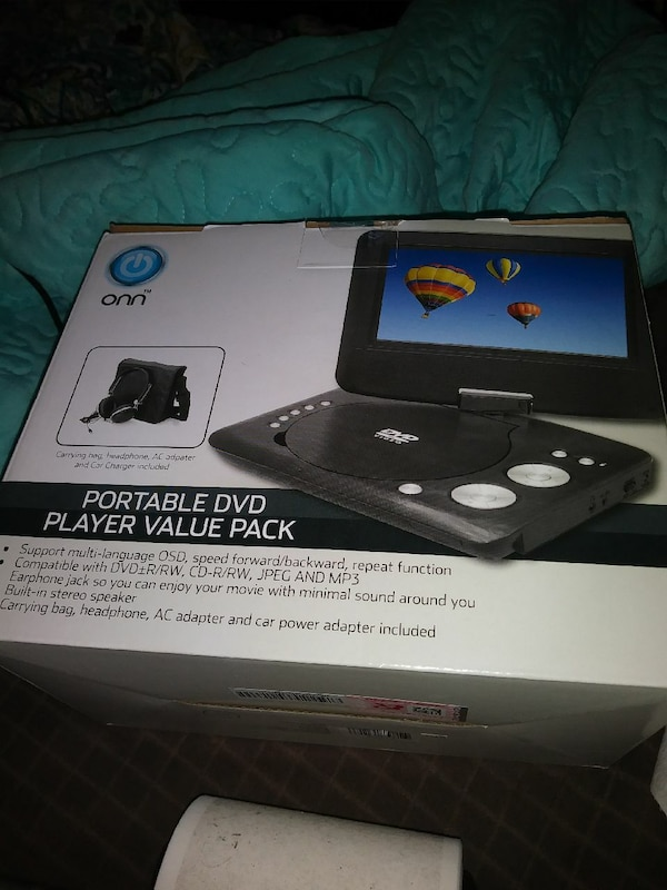 Used Black Onn Portable Dvd Player Box For In Corpus Christi Letgo