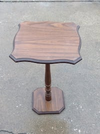 brown wooden table with black metal base Highland, 46322