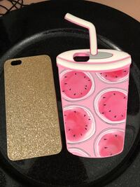 Pink and white plastic iPhone case 6s