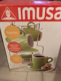 Imusa Expreso set (includes rack with cups and saucers) Reston, 20190