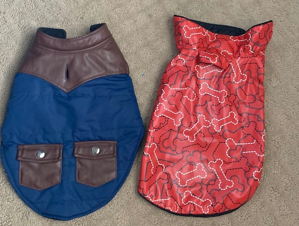 Dog small jackets in good condition 7cf8ddd4-cc8c-4d60-bd50-64e732347005
