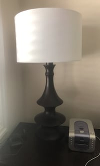 2 lamps with brand new white shades Vaughan, L4H 0J7