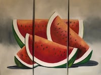 3-piece original painting of watermelon  Beaconsfield, H9W 1V9