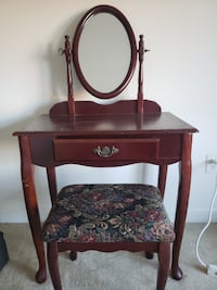 Wood Vanity with stool  Falls Church