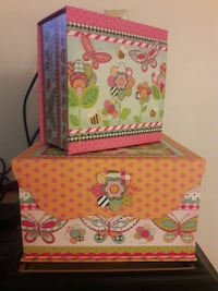 two multicolored floral gift boxes Sulphur