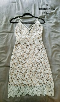 Brand New Size S All White Lace Dress