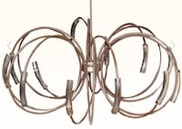 Modern Terzani Hook Chandelier with Murano amber glass ($5,000) new Bronxville, 10708