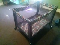 baby's black and white travel cot Rochester