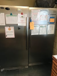 gray side-by-side refrigerator with dispenser Los Angeles, 90230